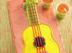 Cake mix, purchased frosting and candies create an easy-to-do music-lovers cake.