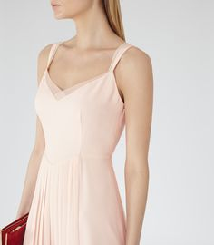 Womens Lychee Pleated Day Dress - Reiss Cohle