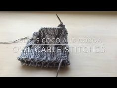 Cable Stitches Knitting How-To - Julie Measures