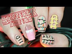 Stranger Things Nail Tutorial | NailsByErin - YouTube