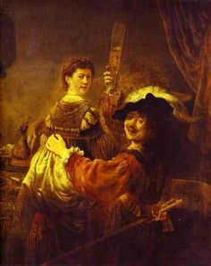 The Prodigal Son in the Tavern (Rembrandt and Saskia), Oil by Rembrandt Van Rijn (1606-1669, Netherlands)