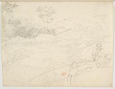 FLORENCE, Hercule - Sem título [Desenho do Carnet de dessins] - 1825 - Grafite sobre papel - 19,3 x 24,7 cm - Coleção Bibliothèque Nationale de France (Paris)
