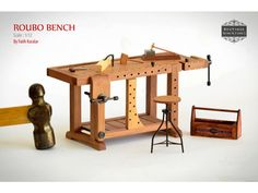 Miniature Roubo Bench Scandinavian Workbench by BoutiqueMiniatures
