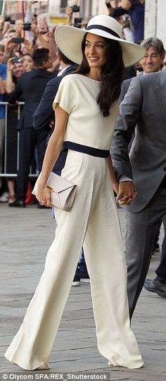 Amal Alamuddin arrives for the civil ceremony in Venice, Italy - 29 Sep 2014...