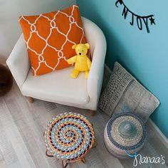 Kussen orange #pillow #cushion #orange #pattern http://www.nanaas.nl/a-41347848/kussens-plaids/kussen-orange/