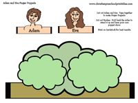 Adam and Eve Finger Puppets. Just print on cardstock.