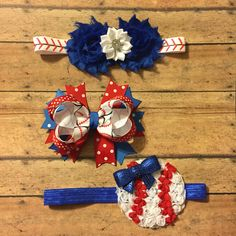Baseball hair bow hair clip headbands flower sports little sister baby girl #bowtifulblessings