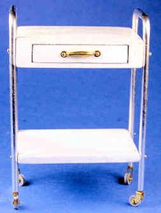 Utility table - medical - $28.00 : S P MINIATURES - hand crafted dollhouse scale miniatures, S P MINIATURES - shop online for dollhouse scale miniatures