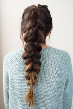 Hair tutorial | voluminous pull-through braid #got2byou #ad