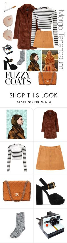 """""""Margo Tenenbaum"""" by aundreathecuban ❤ liked on Polyvore featuring Miss Selfridge, Chanel, Prada, Lands' End, Polaroid and Christian Dior"""