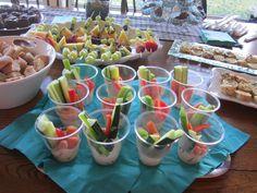 veggie cups #wedding shower food