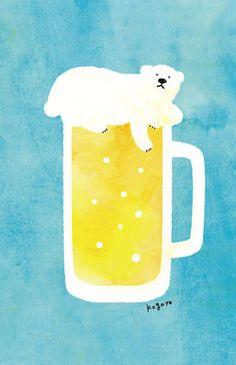 しろくま イラスト - Google 検索 Bear Illustration, Illustration Sketches, Illustrations And Posters, Animal Drawings, Cute Drawings, Bear Art, Minimalist Art, Portfolio, Design Art