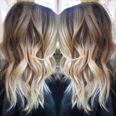 Medium length balayage