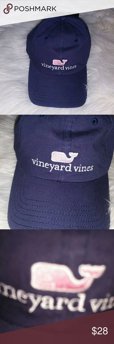 97f63640756a70 Vineyard Vines Hat Baseball Cap Womens NWT Navy Blue Hat with Pink Whale  Women s