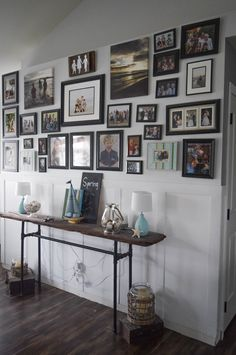 large gallery wall ideas. 25 Spring home tours - DIY and craft ideas to decorate a home for the season, keeping the cost low and the inspiration high. 25 Spring home tours from talented bloggers with a decorating style for everyone!