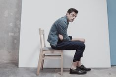 Neo Minimalism–There's no doubt that when it comes to standing out in front of the camera, leading model Sean O'Pry is the perfect choice, as displayed by