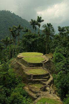 "Pre-ColumbianArchaeological Site ofCiudad Perdida (Spanish for ""Lost City""), Colombia."