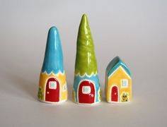 Ceramic collectible THIMBLES by thelittlereddoor
