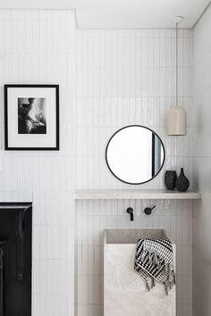 The Design Files Bathroom Trends, Bathroom Interior, Modern Bathroom, Small Bathroom, Master Bathroom, Bathroom Ideas, Barn Bathroom, Bathroom Inspo, Australian Interior Design