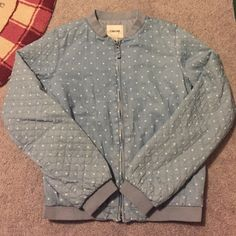Spotted while shopping on Poshmark: HOST PICK  Chambray polka dot bomber jacket! #poshmark #fashion #shopping #style #Jackets