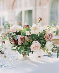 Wedding Reception Design, Wedding Reception Flowers, Bridal Flowers, Floral Wedding, Wedding Bouquet, Low Wedding Centerpieces, Centerpiece Decorations, Floral Centerpieces, Centrepieces