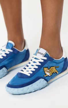 Discover the collection of KENZO women's shoes: sneakers, slip-on, espadrilles, sandals with trendy KENZO prints. Men's Shoes, Shoes Sneakers, Kenzo Clothing, French Blue, High Top Sneakers, Espadrilles, Slip On, Street Style, Kids