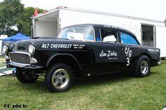 55 Chevy Gasser | Jim Zakia CG Black 55 chevy gasser #29 BG 06