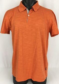 HUGO BOSS Polo Shirt Men's XL Orange Golf Short Sleeved Solid Regular Fit 2  BTN