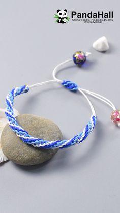 Tutorial on Ocean Style Braided Bracelet tutorial videos Diy Bracelets Video, Braided Bracelets, Diy Crafts Jewelry, Bracelet Crafts, Diy Bracelet Designs, Diy Jewelry Videos, Beaded Crafts, Macrame Bracelet Patterns, Chevron Bracelet