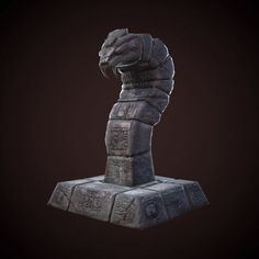 mayan statue snake 3d model low-poly fbx tga mat 1