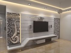 Amazing TV Unit Design Ideas For Your Living Room – The Wonder Cottage- Wonder Cottage Lcd Wall Design, Lcd Unit Design, House Ceiling Design, Ceiling Design Living Room, Flur Design, Hall Design, Hall Interior Design, Interior Colors, Room Interior