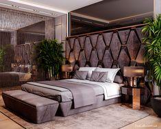 Modern Luxury Bedroom, Luxury Rooms, Luxury Homes Interior, Luxurious Bedrooms, Hotel Bedroom Design, Bedroom Furniture Design, House, Luxury Houses, Bedrooms