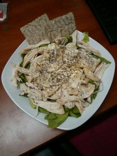 Stay healthy ! Chicken salad with low fat mayonnaise/ basil dressing