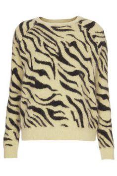 **Pull angora motif tigre Meadham Kirchhoff