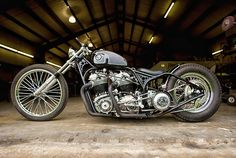 Custom Norton motorcycle with atlas engines