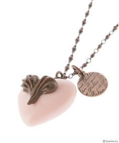 Heart on Heart Chocolat Necklace(PNK)