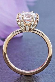 Beautiful Rose gold engagement rings have a feminine and romantic look