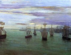 Note in Gold and Silver - Dordrecht. c.1884. James Abbott McNeill Whistler