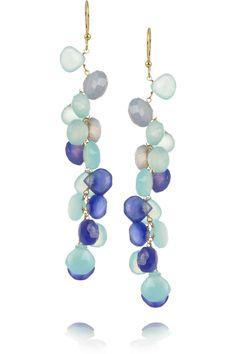 Rosantica|Rami opal, agate and aquamarine earrings|NET-A-PORTER.COM