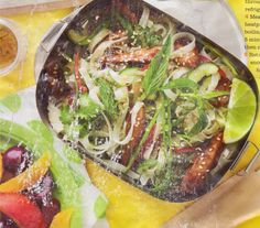 The Clipping Collection: Rice Noodle Salad with Teriyaki Chicken