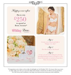 Create your dream #wedding for a chance to #win £250 to spend at Boux Avenue #brides #bridesmaids #HappyEverAfter