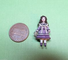 Dollhouse Miniature 1 12 Renee Delaney's Tiny Boxed Doll Signed OOAK   eBay