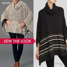 Sew the Look: McCall's M7255 poncho sewing pattern. Perfect for sweater knits!