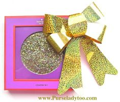 Kate Spade Glitter and Sparkle Set of 4 coasters - Great Gift!