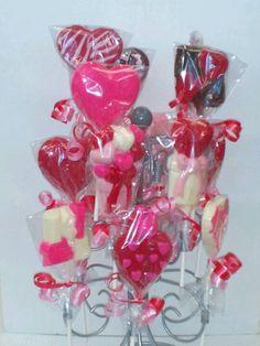 Valentines lollipops