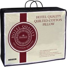 Buy Downland 100% Cotton Quilted Pillow at Argos.co.uk - Your Online Shop for Pillows.