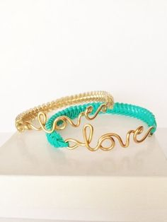 Love Bracelets by ByJGolden on Etsy, $7.75