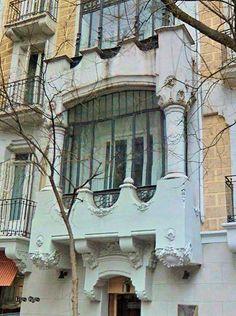 Balcony in Lagasca street , Madrid, Spain