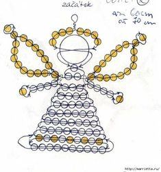 Beadery Holiday Ornament Kit Littlest Angels 5669 Beaded Christmas Ornaments, Angel Ornaments, Christmas Jewelry, Christmas Angels, Christmas Crafts, Christmas Decorations, Pony Bead Patterns, Beaded Jewelry Patterns, Beading Patterns