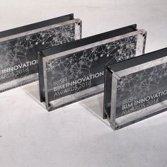 The BIM Awards we designed recently. A nice use of transparent acrylic and aluminium backing. The graphics were laser engraved resulting in a really clean and simple design. Laser Engraving, Simple Designs, Innovation, Awards, Minimal, Graphics, Cleaning, Nice, Home Decor